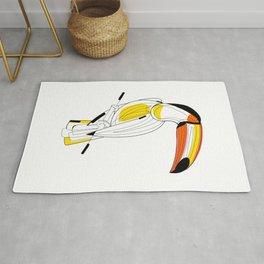 Parrot Drawing  Line Art Bird Rug