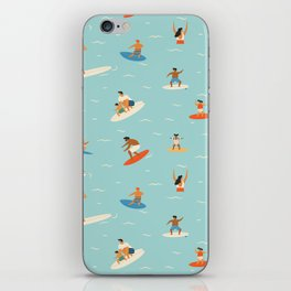 Surfing kids iPhone Skin