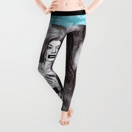 Don't Give Up! - Don't Blame the Victim #metoo Glass Ceiling protest art portrait Leggings