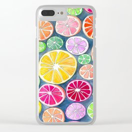 Citrus Painting Clear iPhone Case