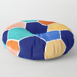 Painted Terra Cotta Floor Pillow