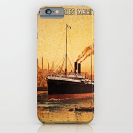 Vintage French Orient Shipping line Paris Mediterranean iPhone Case