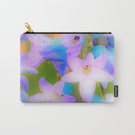 Bouquet in Blue and Pink 3 - enhanced and in blue white and green actually Carry-All Pouch