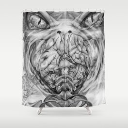 Wrath of the dragon Shower Curtain