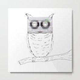 Owl cassette Metal Print