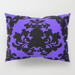 Victorian Damask Purple and Black Pillow Sham