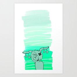 turquoise CG Art Print