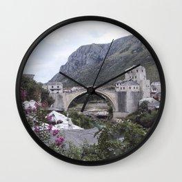 Mostar BiH III Wall Clock