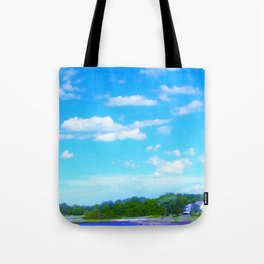 Summer on the Essex River Tote Bag