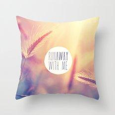 Purple Orange Retro Summer Romantic Sunset Photo Throw Pillow
