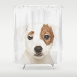 Jack Russell Puppy Shower Curtain