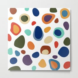 Terrazzo Abstract Pattern Metal Print