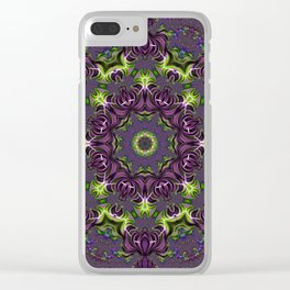 Acid Trip Fractal Kaleidoscope 1 Clear iPhone Case