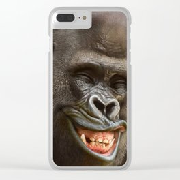 Smiling Gorilla (^_^) Clear iPhone Case