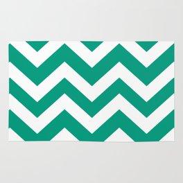 Paolo Veronese green - green color - Zigzag Chevron Pattern Rug