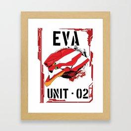 Evangelion Unit 02 Framed Art Print