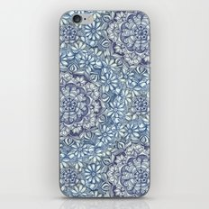 Indigo Medallion with Butterflies & Daisy Chains iPhone Skin