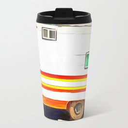 Vintage Camping Trailer Pop Travel Mug