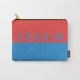 Tessin region switzerland country flag name text swiss Carry-All Pouch