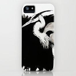 Inksplash Heron iPhone Case