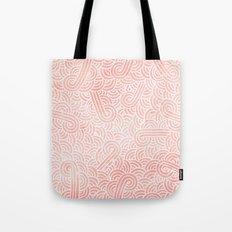 Rose quartz and white swirls doodles Tote Bag