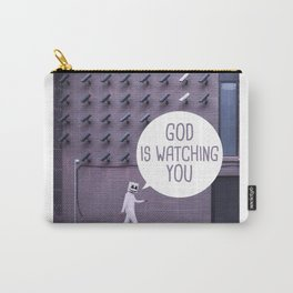 Quote - God is watching you Carry-All Pouch
