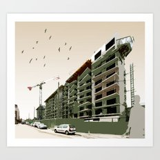 Construction Site Art Print