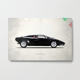 The 84 Countach Metal Print