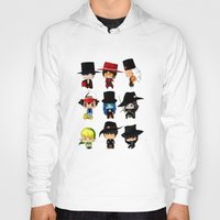 anime Hoodies featuring Anime Hatters by artwaste