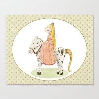 princess Canvas Prints featuring Princess by Judith Loske