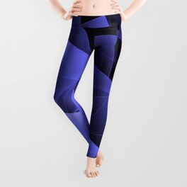 Iridescent overlapping sheets of blue paper triangles. Leggings
