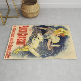 Le Punch De Grassot 1890 By Jules Cheret | Reproduction Art Nouveau Rug