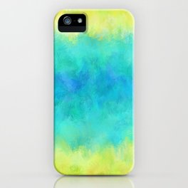 Sunflower and Ice Abstract iPhone Case