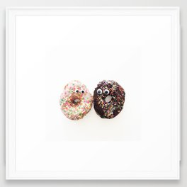 Donut Conversation Food Photography Framed Art Print