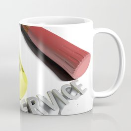 Hammer and screwdriver for Service - 3D rendering Coffee Mug
