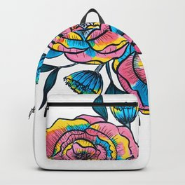 technicolor roses Backpack
