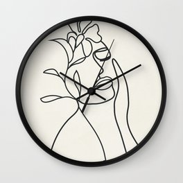Abstract Minimal  Woman II Wall Clock
