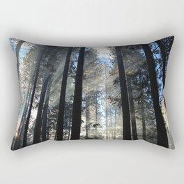 Sunlight Shines Through the Trees Rectangular Pillow
