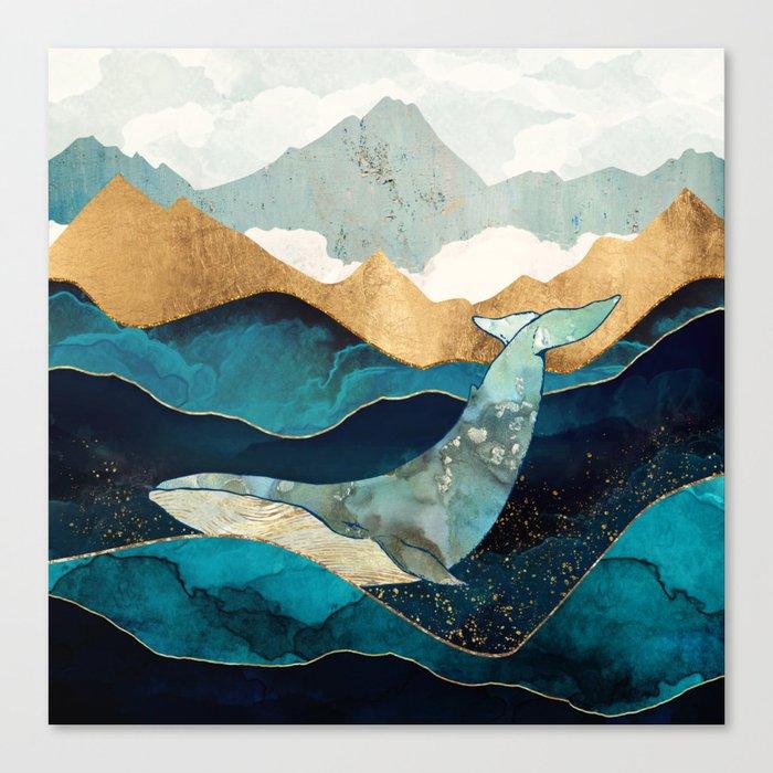 Blue Whale Leinwanddruck