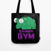 gym Tote Bags featuring gamma gym by Louis Roskosch