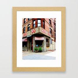 Wash Dry/Vintage Laundromat Framed Art Print