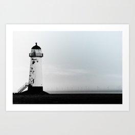 Point of Ayr Lighthouse Art Print