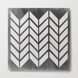 Black and White Quilt Metal Print