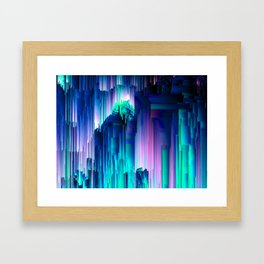 Glitches Be Trippin' - Abstract Pixel Art Framed Art Print