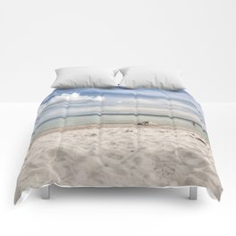 Dream beach Sea Ocean Summer Maritime Navy clouds Comforters