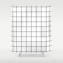 grid pattern Shower Curtain