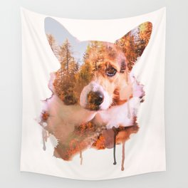 Corgi Forest Wall Tapestry
