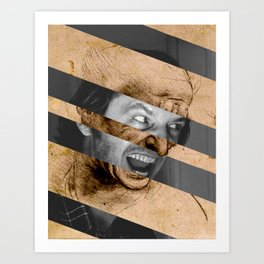 Leonardo da Vinci's Head for The Battle of Anghiari & Jack Nicholson Canvas Art Print