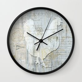 Chicken in French Wall Clock