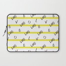 Love Pattern design by #Mahsawatercolor Laptop Sleeve